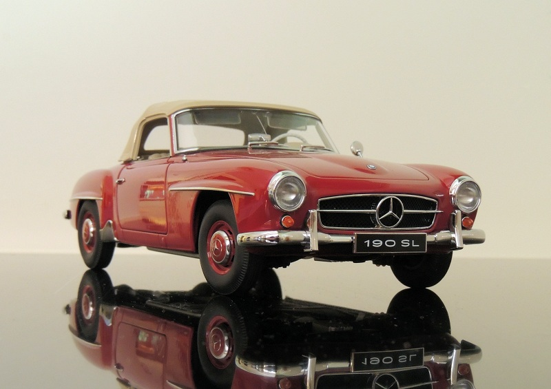 Review autoart 1955 mercedes benz 190sl for Best wax for black mercedes benz