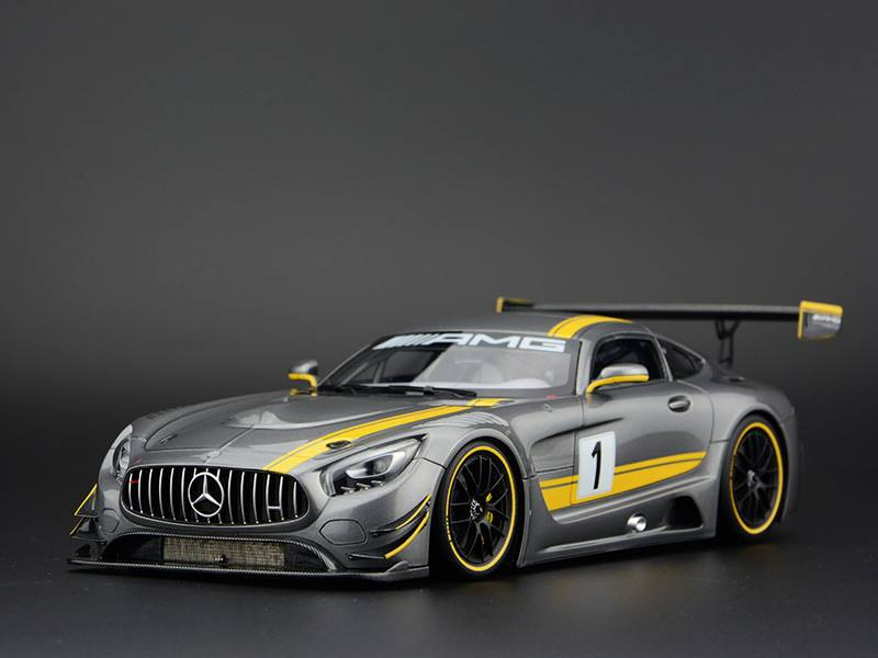 fronti art new mercedes benz amg gt3 silver gray. Black Bedroom Furniture Sets. Home Design Ideas
