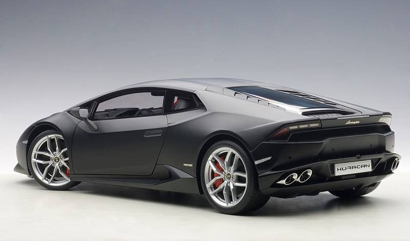 autoart 1 12 lamborghini huracan lp610 4 matte black. Black Bedroom Furniture Sets. Home Design Ideas