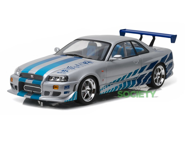 greenlight 1999 nissan skyline gt r r34 2 fast 2 furious. Black Bedroom Furniture Sets. Home Design Ideas