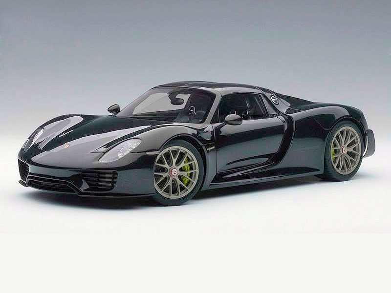 autoart porsche 918 spyder weissach package black. Black Bedroom Furniture Sets. Home Design Ideas
