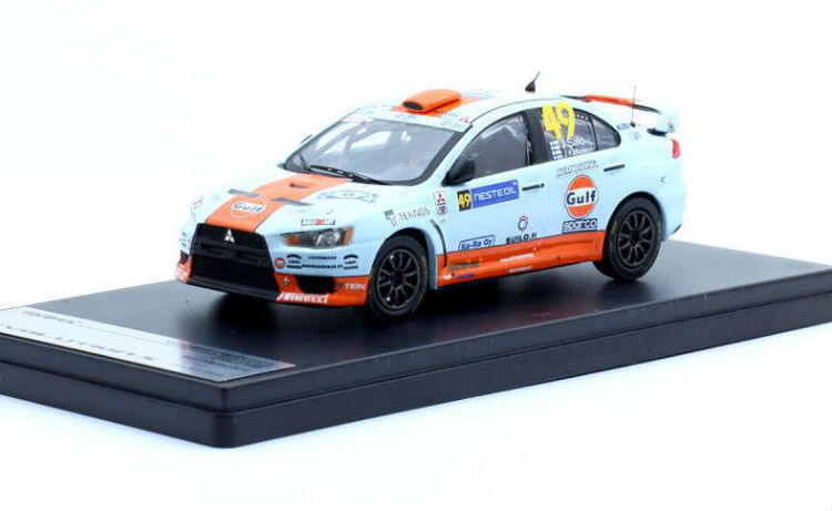 tarmac new mitsubishi lancer evo x gulf racing 49. Black Bedroom Furniture Sets. Home Design Ideas