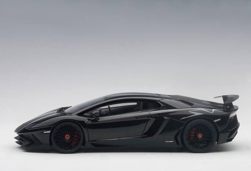 AUTOart New Lamborghini Aventador LP750-4 SV - Gloss Black ... on silver audi black, silver jeep wrangler black, silver toyota sienna black, silver range rover evoque black,