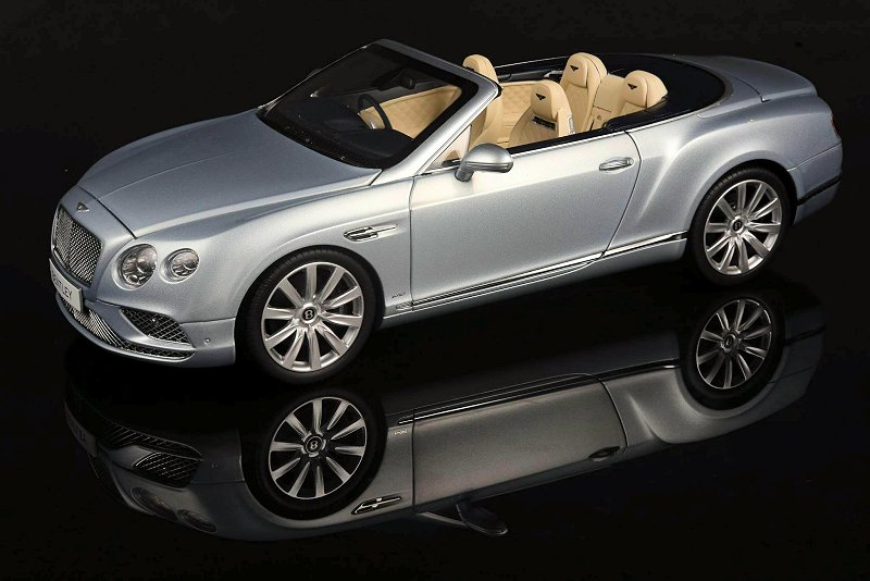 paragon models bentley continental gt convertible silver frost. Black Bedroom Furniture Sets. Home Design Ideas
