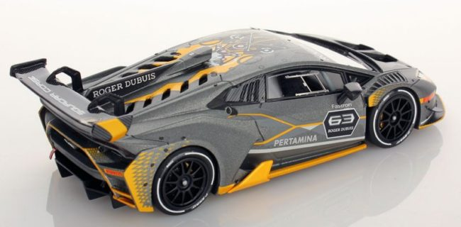 their latest race effort sees the lamborghini huracan super trofeo evo in 143 scale nice detail and cool livery round