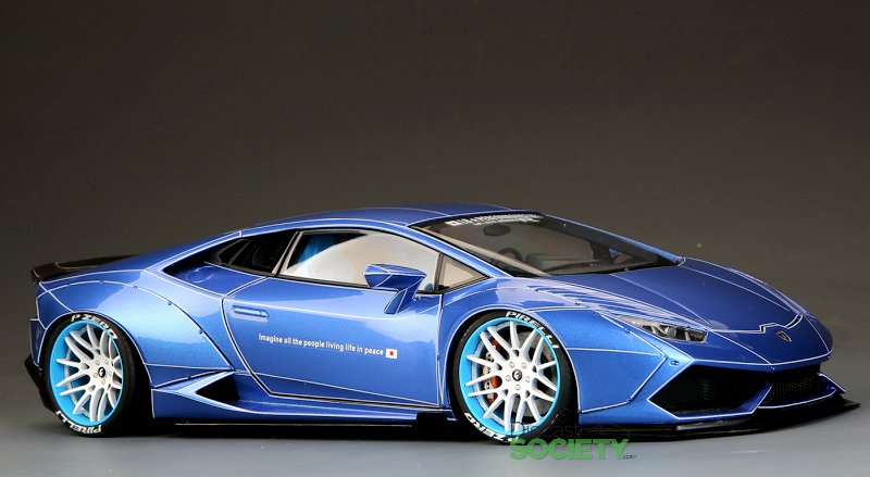 lamborghini huracan in blue with spider decals limited to only five units this lb tuner car will provide full access custom body kit and paint