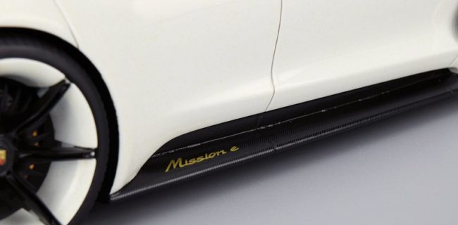 Porsche Mission E Concept meets all the baselines of your typical fossil fuel sportscar but without a drop of gasoline. This model of the Porsche Mission E ... & REVIEW: Spark Porsche Mission E Concept \u2022 DiecastSociety.com