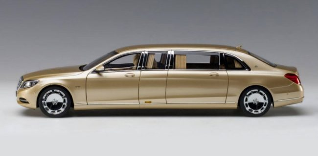 Autoart Mercedes Maybach S 600 Pullman Gold Diecastsociety Com